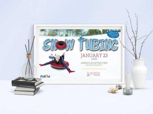 PARIM Snow Tubing Poster